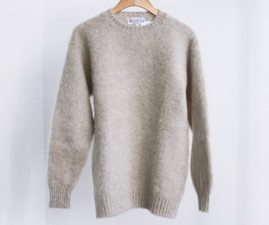 Shaggy Dog Crew Neck Sweater (Putty)